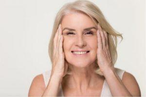 mature women tightening face