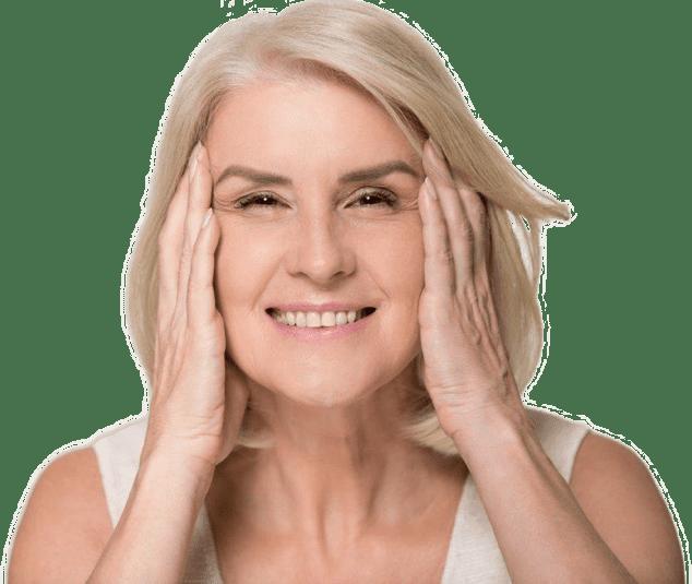 women tightening skin
