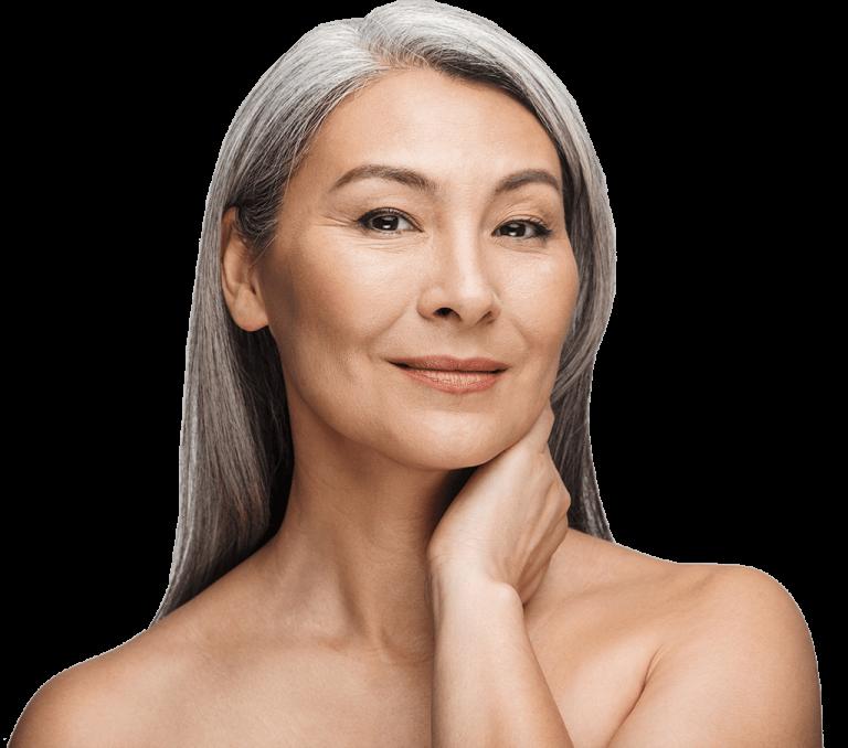 mature asian women skincare